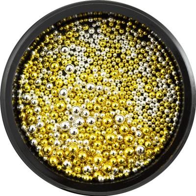 Металеві бульонкі Мікс розмірів, золото + срібло