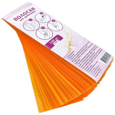 Цветные полоски для депиляции 7х20 см, оранжевые