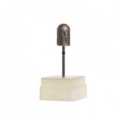 Фреза алмазная для педикюра TWISTER 12013, диаметр 7 мм, синяя