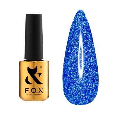 Светоотражающий гель-лак FOX  gel-polish Flash Синий 011, 6 ml