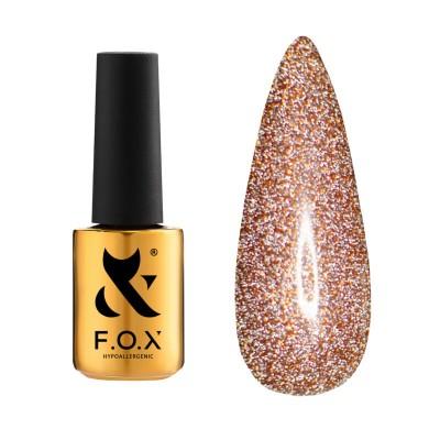 Светоотражающий гель-лак FOX gel-polish Flash Красный 012, 6 ml