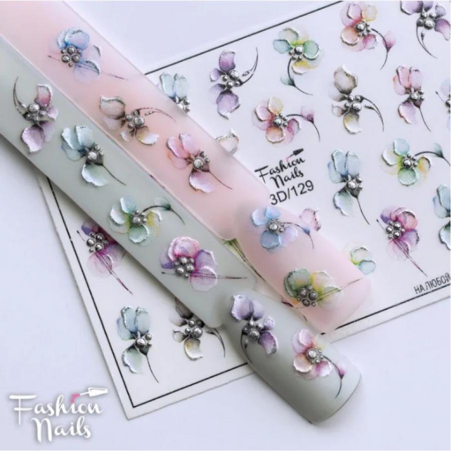 3D-129 Слайдер дизайн (цветы)