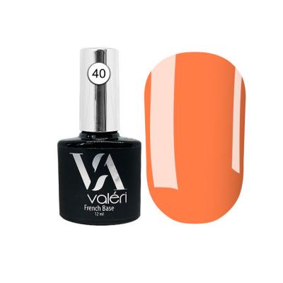 Камуфлирующая база Valeri French Base №40 Valeri, оранжевая, 12 ml