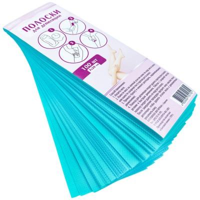 Цветные полоски для депиляции 7х20 см, бирюзовые