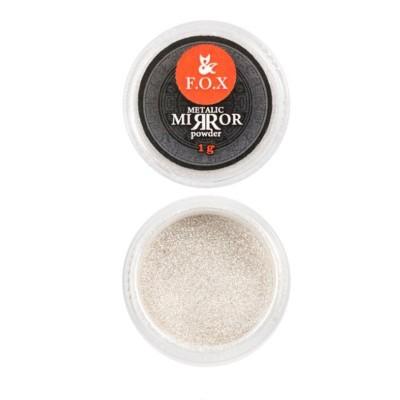 Зеркальная втирка хром (серебро) FOX, 1 гр