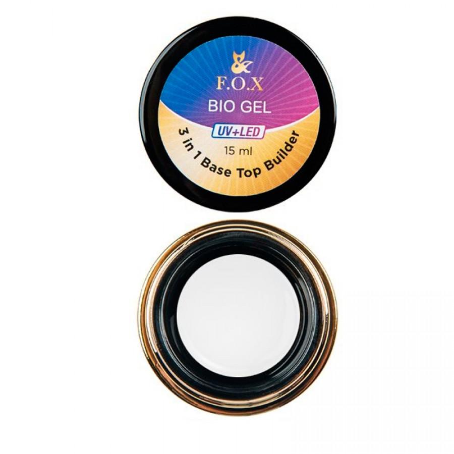 Біо-гель для зміцнення нігтів FOX (top, base, builder), 50 ml