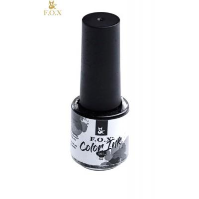 Чернила для дизайна ногтей Фокс (FOX) 001 (черный), 5 мл