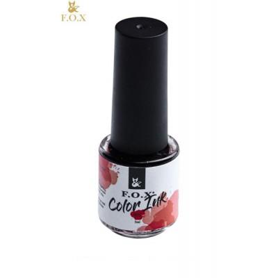 Чернила для дизайна ногтей Фокс (FOX) 002 (красный), 5 мл