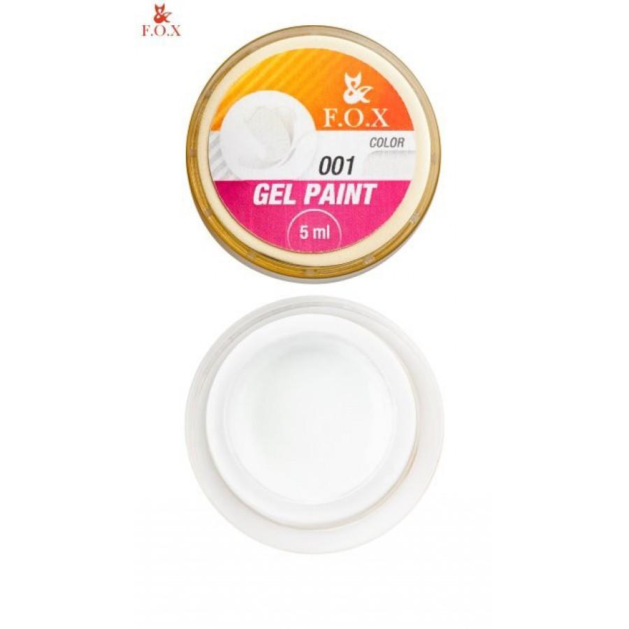 Гель-краска FOX для ногтей 001 (белый), 5 мл