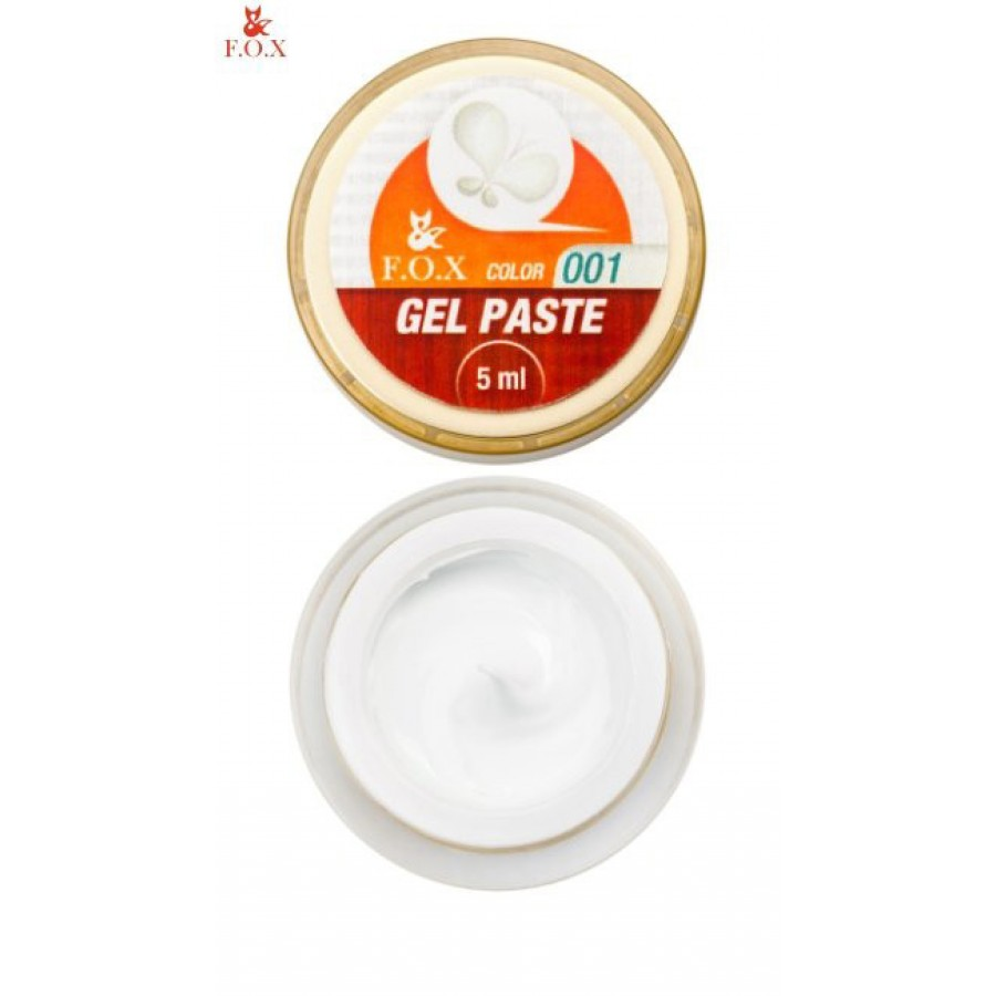 Гель-паста 3D FOX 001 (белый), 5 мл