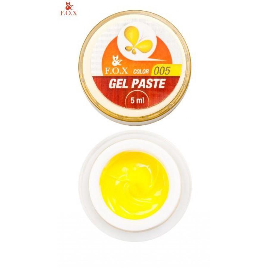 Гель-паста 3D FOX 005 (жовтий), 5 мл