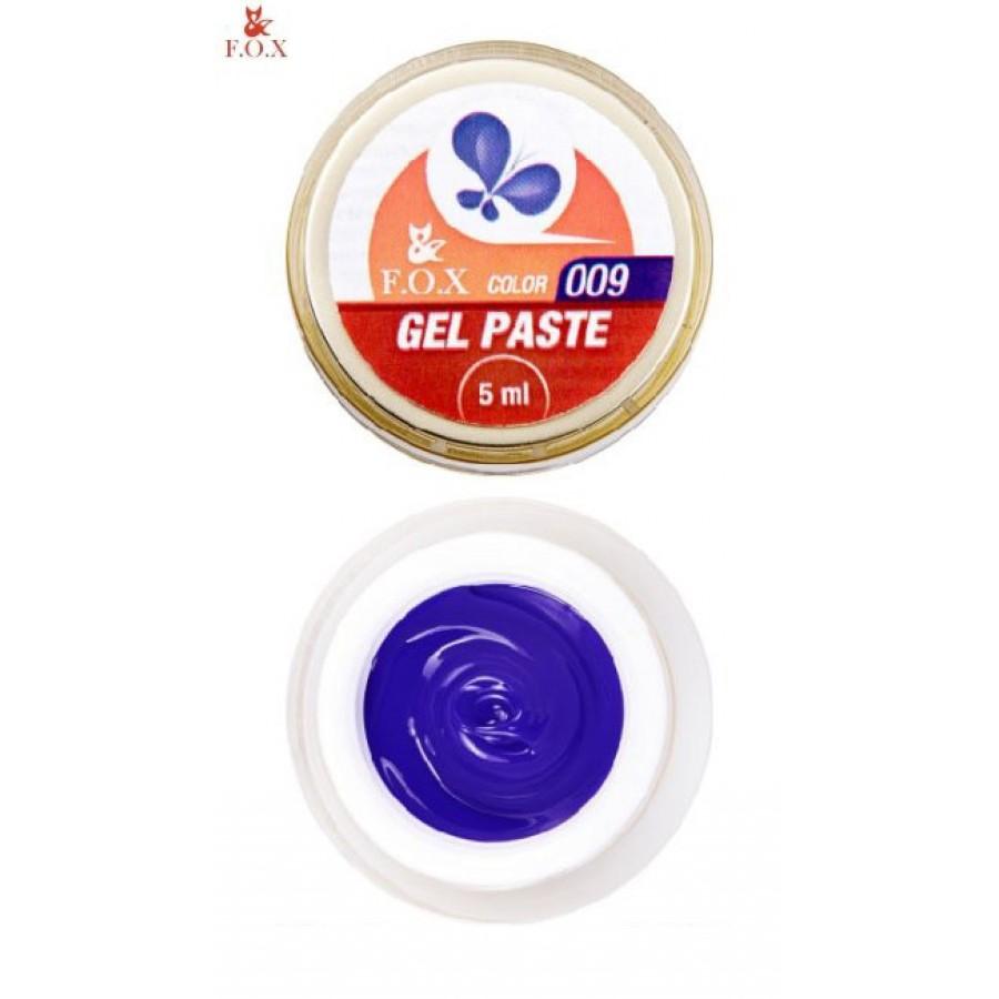 Гель-паста 3D FOX 009 (синій), 5 мл