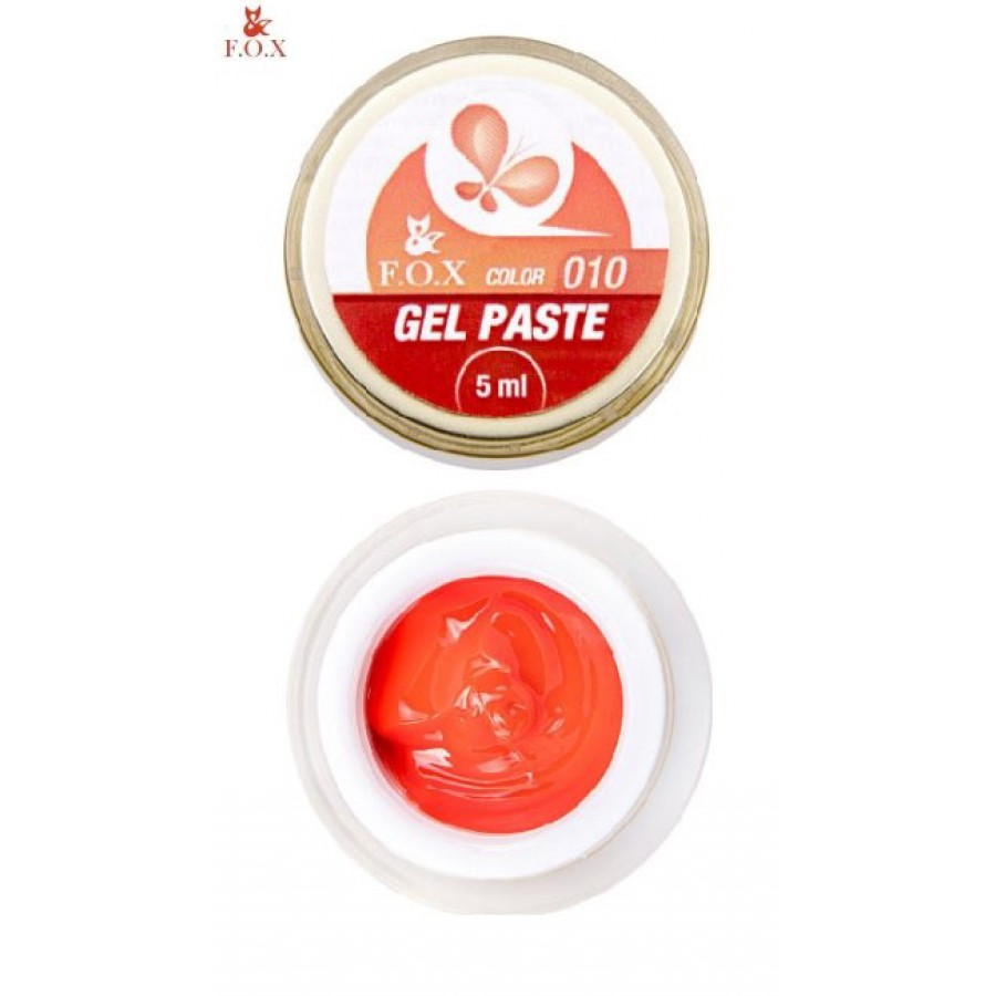 Гель-паста 3D FOX 010 (оранжевый), 5 мл