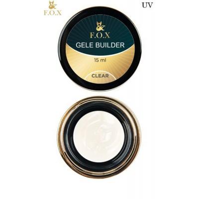 Моделирующий гель-желе FOX Gele builder gel UV Clear, 15 ml