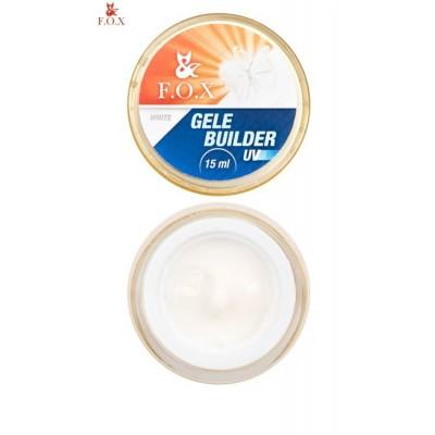 Моделирующий гель-желе FOX Gele builder gel UV White, 15 ml