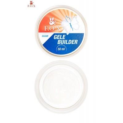 Моделирующий гель-желе FOX Gele builder gel UV Clear, 50 ml