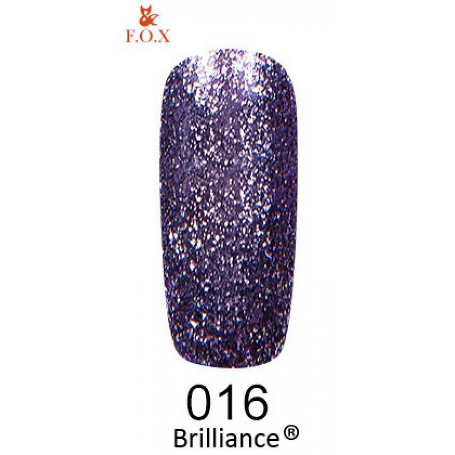 Гель-лак FOX Brilliance №016, 6 мл