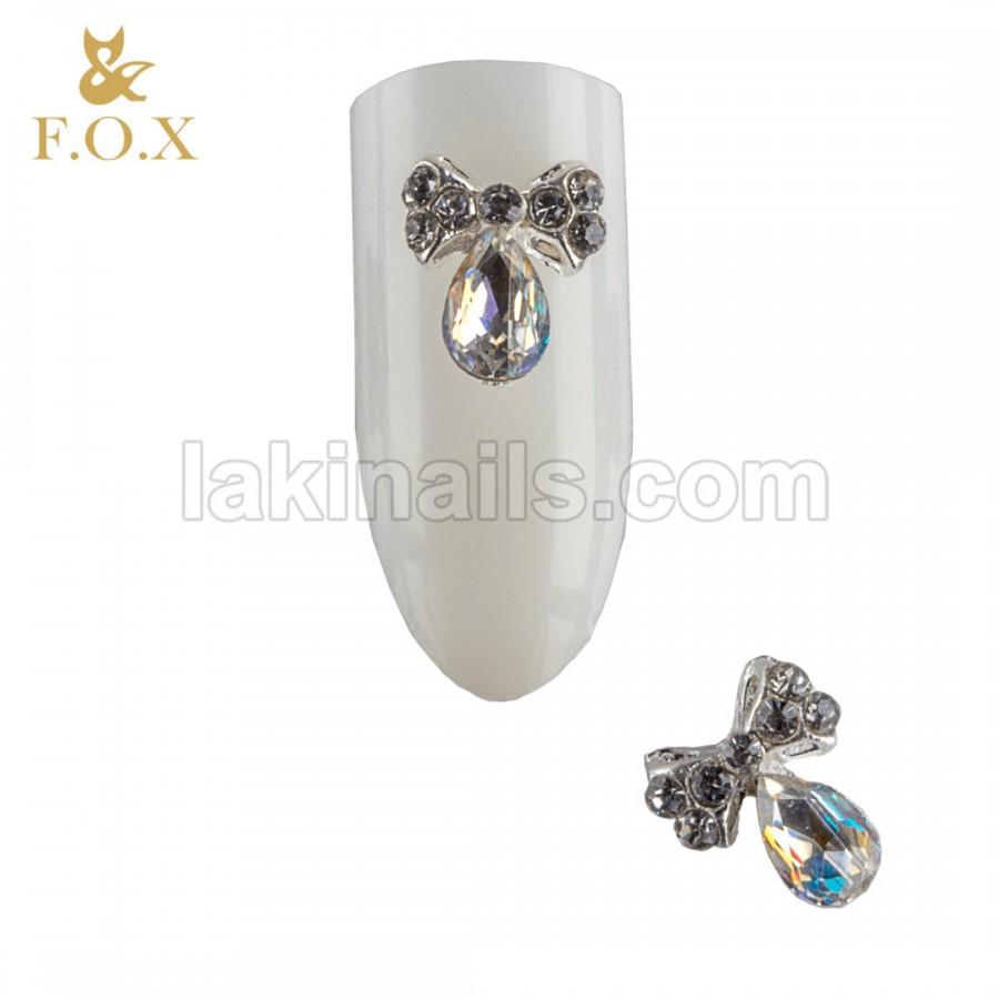 3D Брошь для дизайна ногтей FOX bow, 2 шт