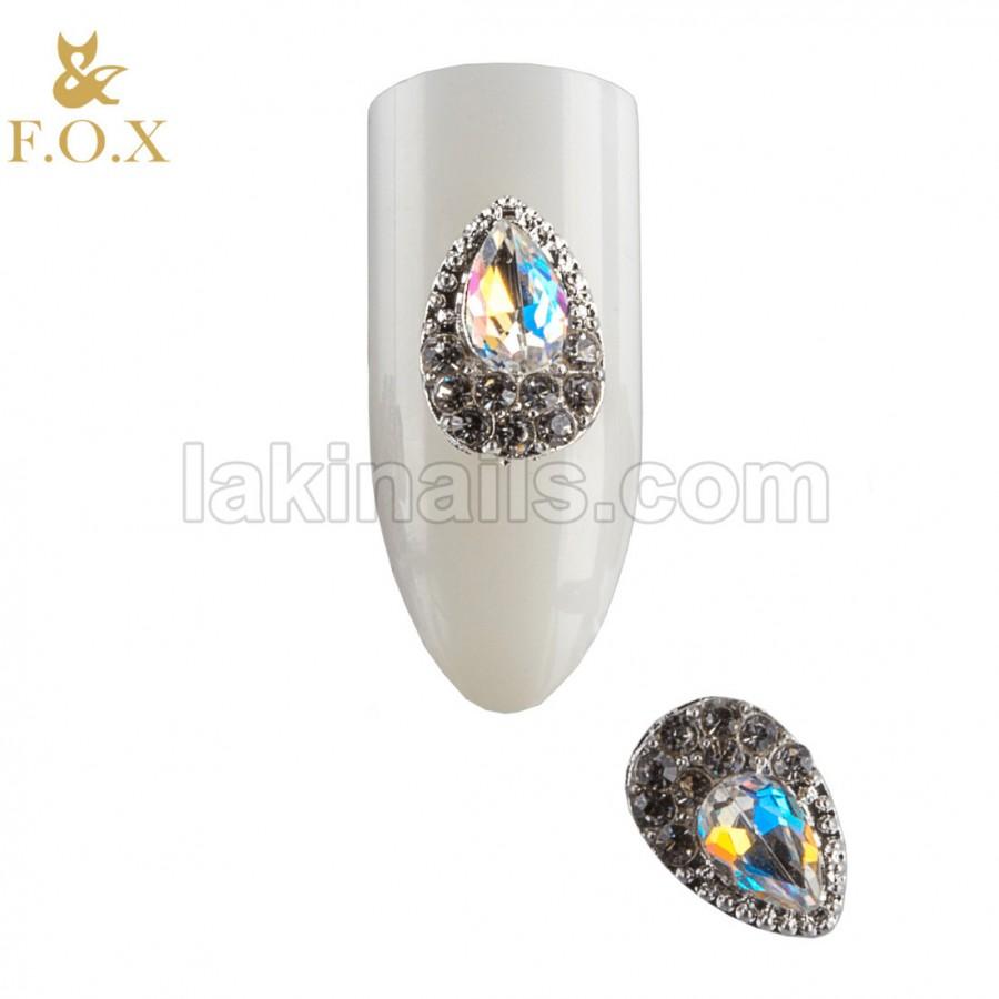 3D Брошь для дизайна ногтей FOX drop, 2 шт