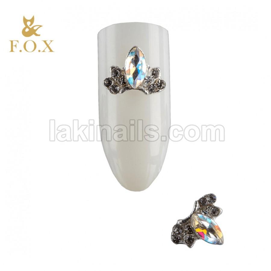 3D Брошь для дизайна ногтей FOX placer, 2 шт