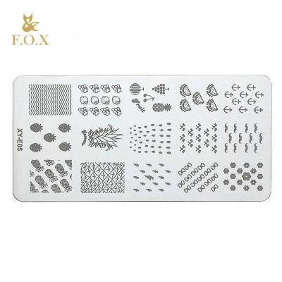 Пластина для стемпинга металлическая FOX XY-E05
