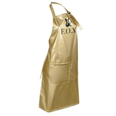 Фартук маникюрный (лаковая ткань) FOX, золотой