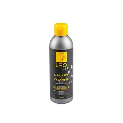 Засіб для дезінфекції, знежирення і видалення дисперсійного шару LEO Nail Prep & Cleanser (2 in 1), 300мл