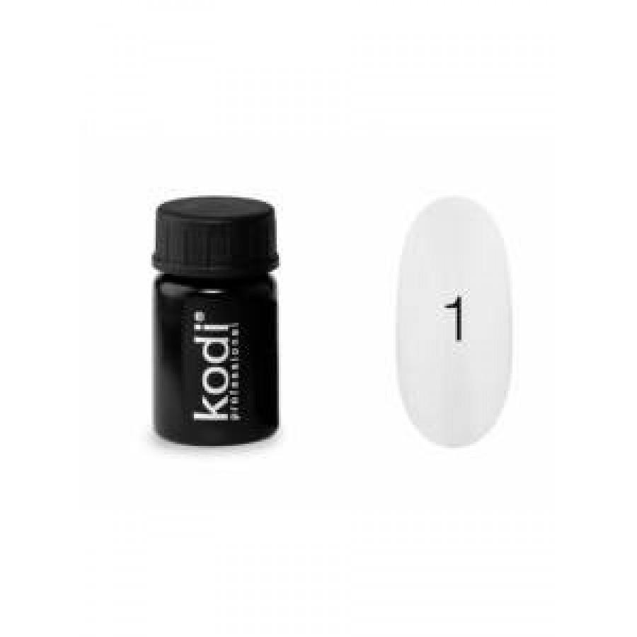 Гель-краска Коди (Kodi) для ногтей 01 (белый), 4 мл