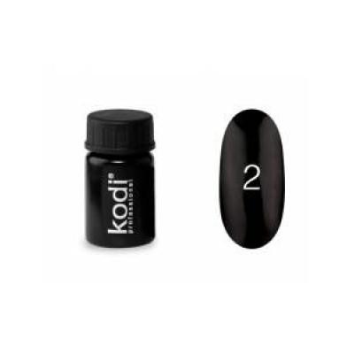 Гель-краска Коди (Kodi) для ногтей 02 (черная), 4 мл