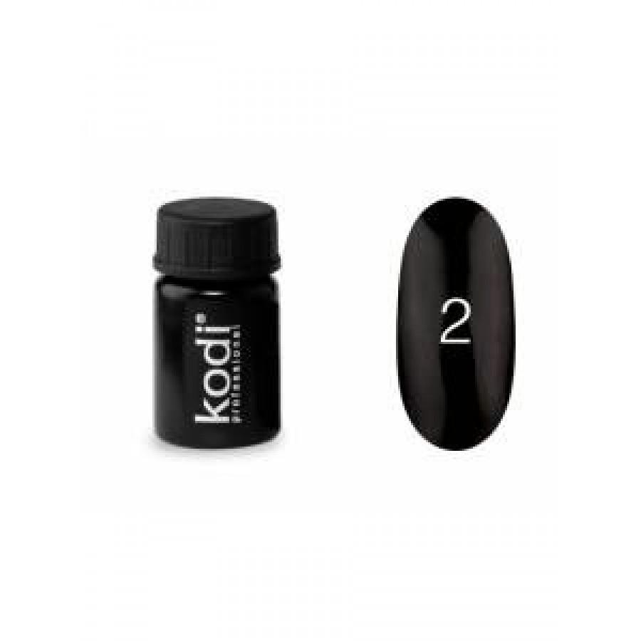 Гель-фарба Коді (Kodi) для нігтів 02 (чорна), 4 мл