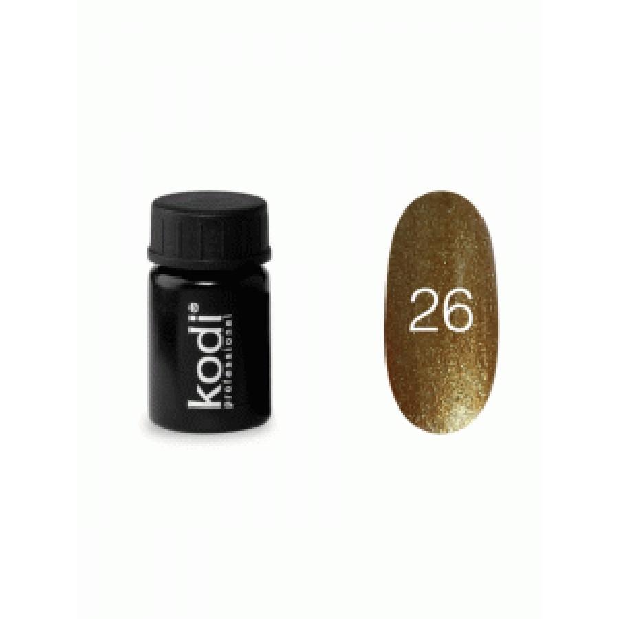 Гель-фарба Коді (Kodi) для нігтів 26 (золота), 4 мл