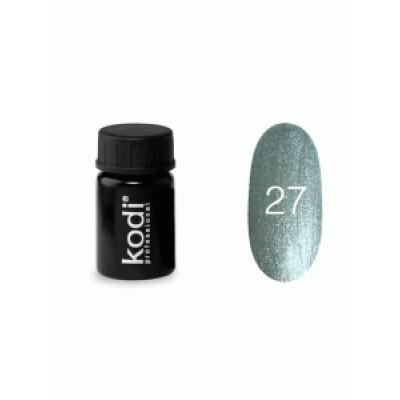 Гель-краска Коди (Kodi) для ногтей 27 (серебристая), 4 мл