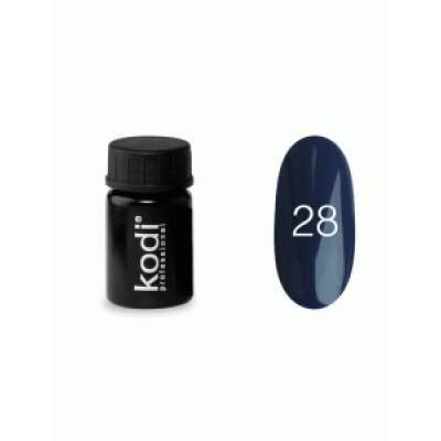 Гель-краска Коди (Kodi) для ногтей 28 (сине-фиолетовый), 4 мл