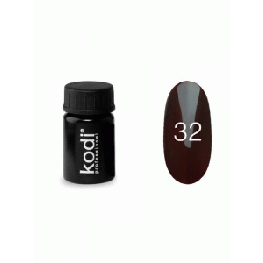 Гель-фарба Коді (Kodi) для нігтів 32 (коричневий), 4 мл