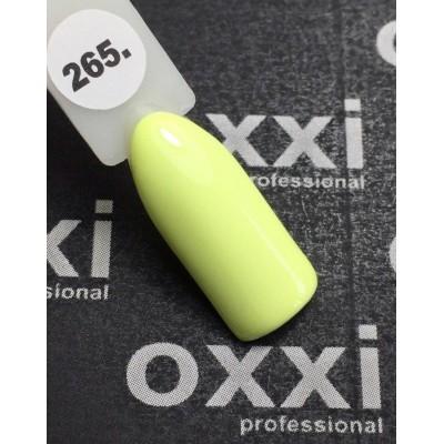 Гель-лак OXXI №265, світло-жовтий, 10 мл