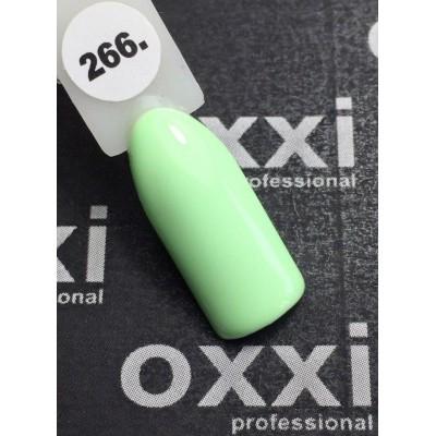 Гель-лак OXXI №266, ніжно-салатовий, 10 мл