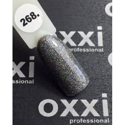 Гель-лак OXXI №268, графитовый, 10 мл
