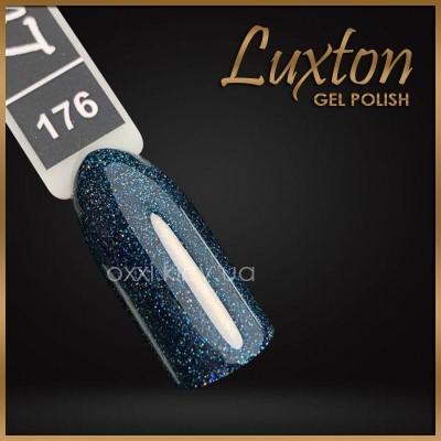 Гель-лак Luxton №176, темный зеленый с блестками, 10 мл