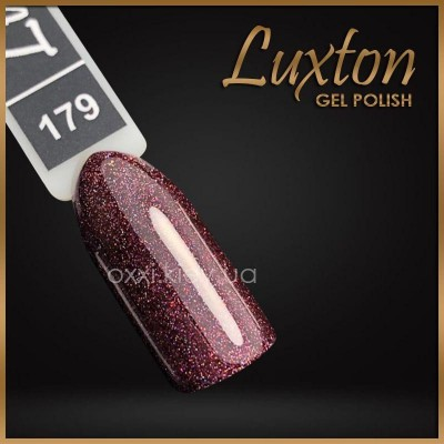 Гель-лак Luxton №179, темный сиреневый с блестками, 10 мл