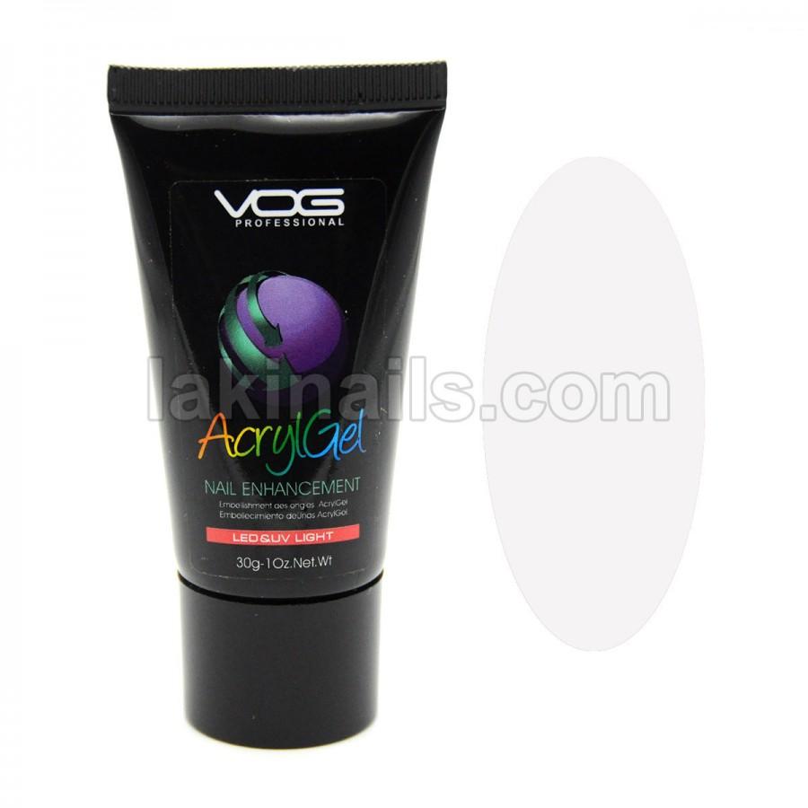 Акрилгель прозрачный VOG AcrylGel Clear, 30 мл