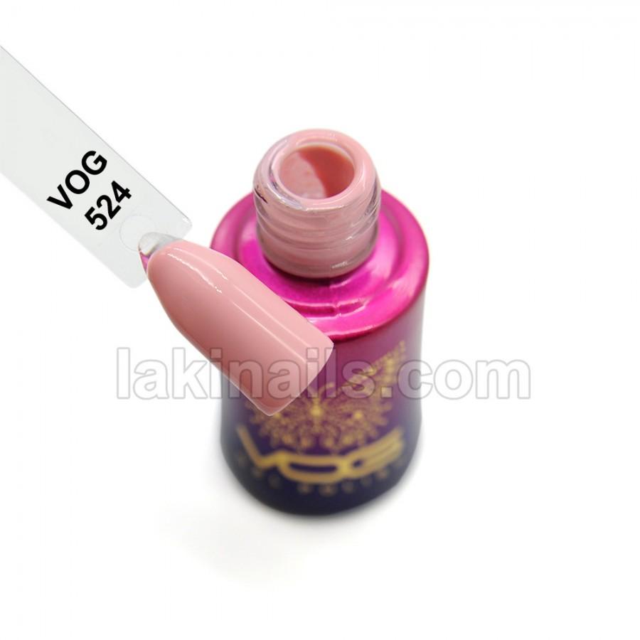 Гель-лак VOG №524, світло-рожевий
