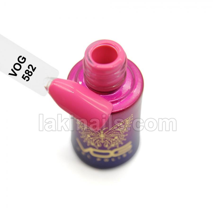 Гель-лак VOG №582, яскраво-рожевий