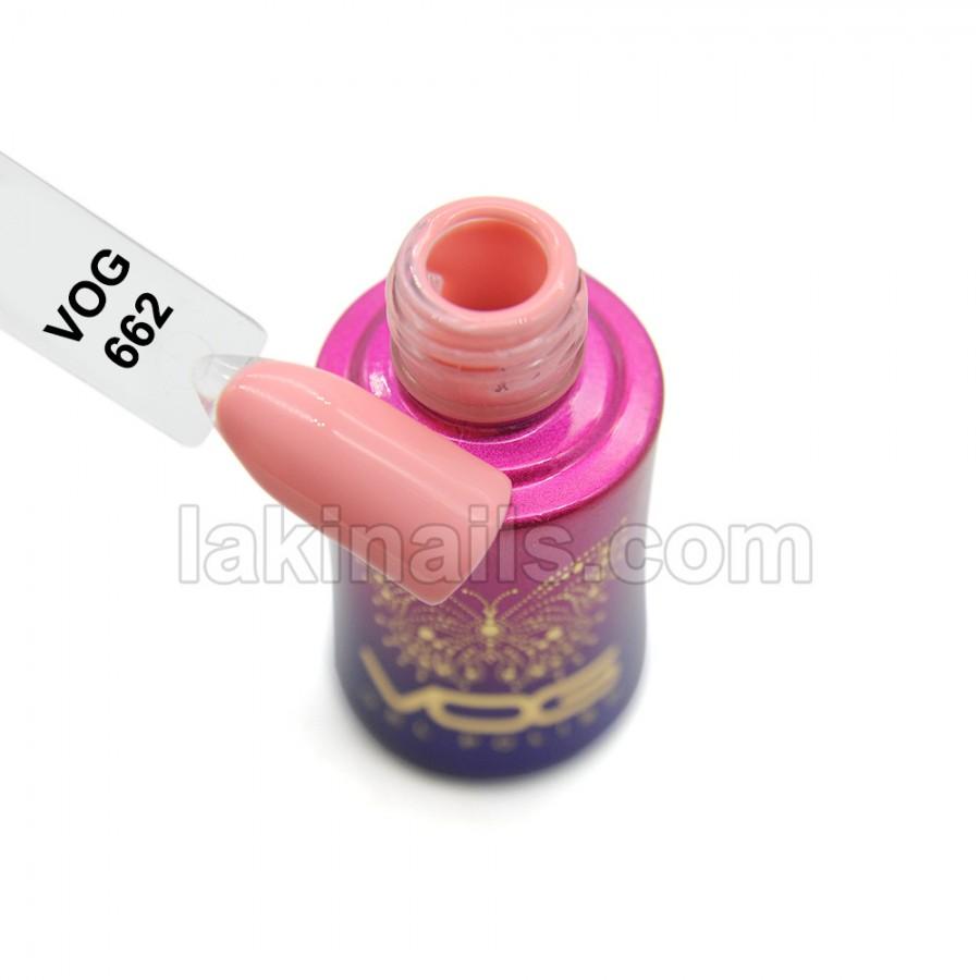 Гель-лак VOG №662, рожево-персиковий