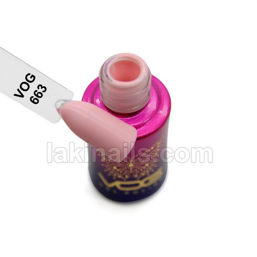 Гель-лак VOG №663,  нежно-розовый