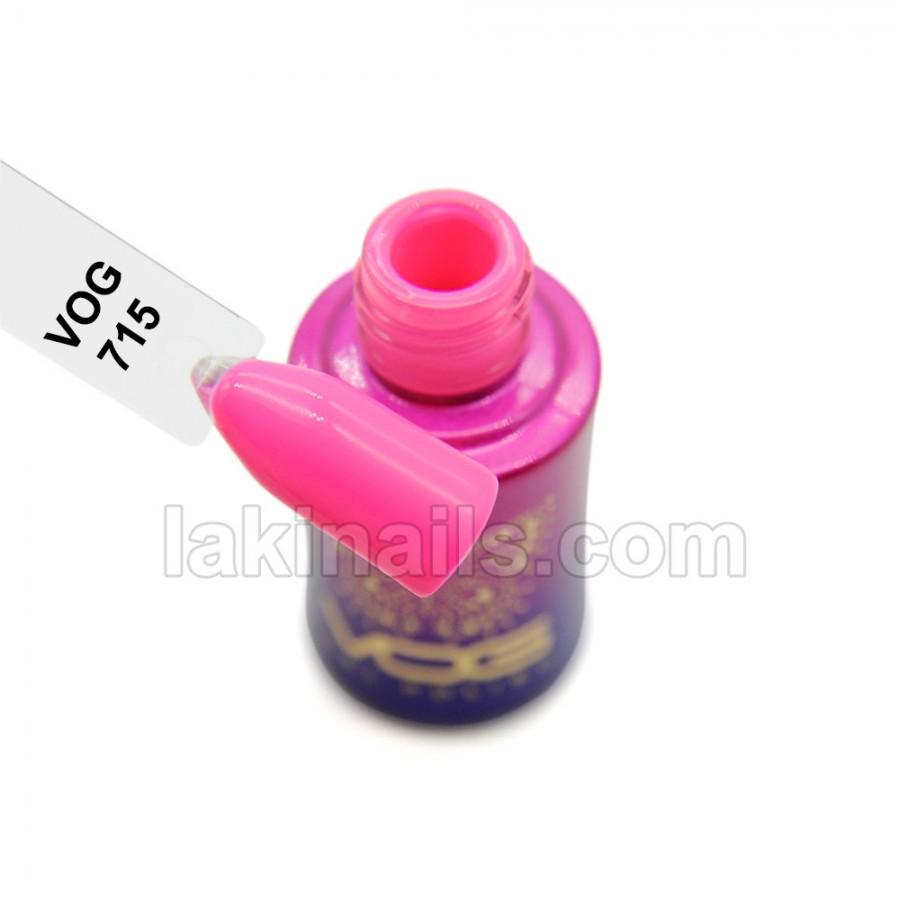 Гель-лак VOG №715, яскраво рожевий