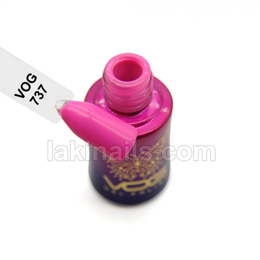 Гель-лак VOG №737, ярко-розовый