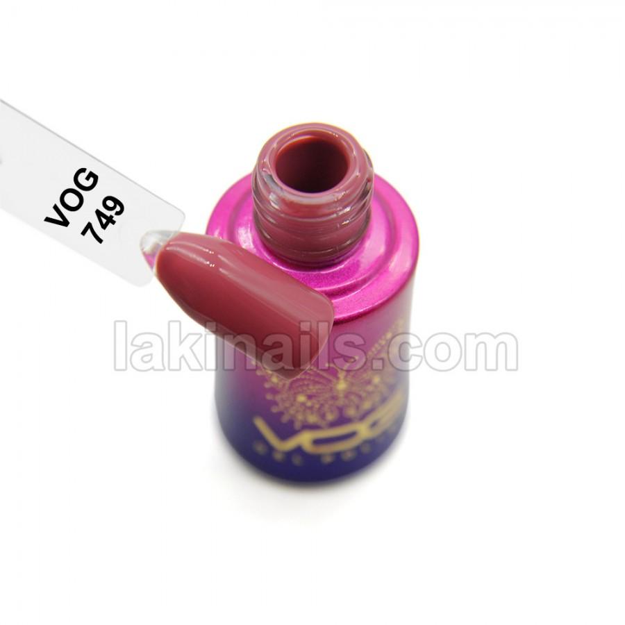 Гель-лак VOG №749, бежево-розовый темный