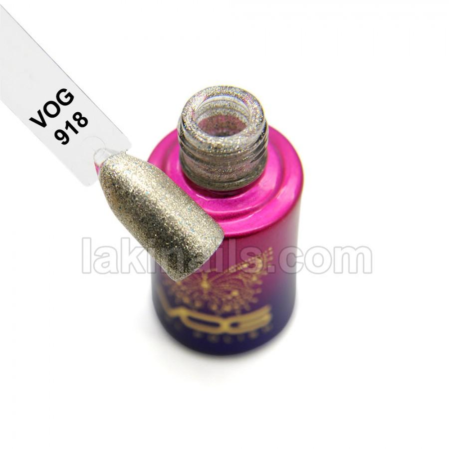 Гель-лак VOG №918, серебристый с блестками