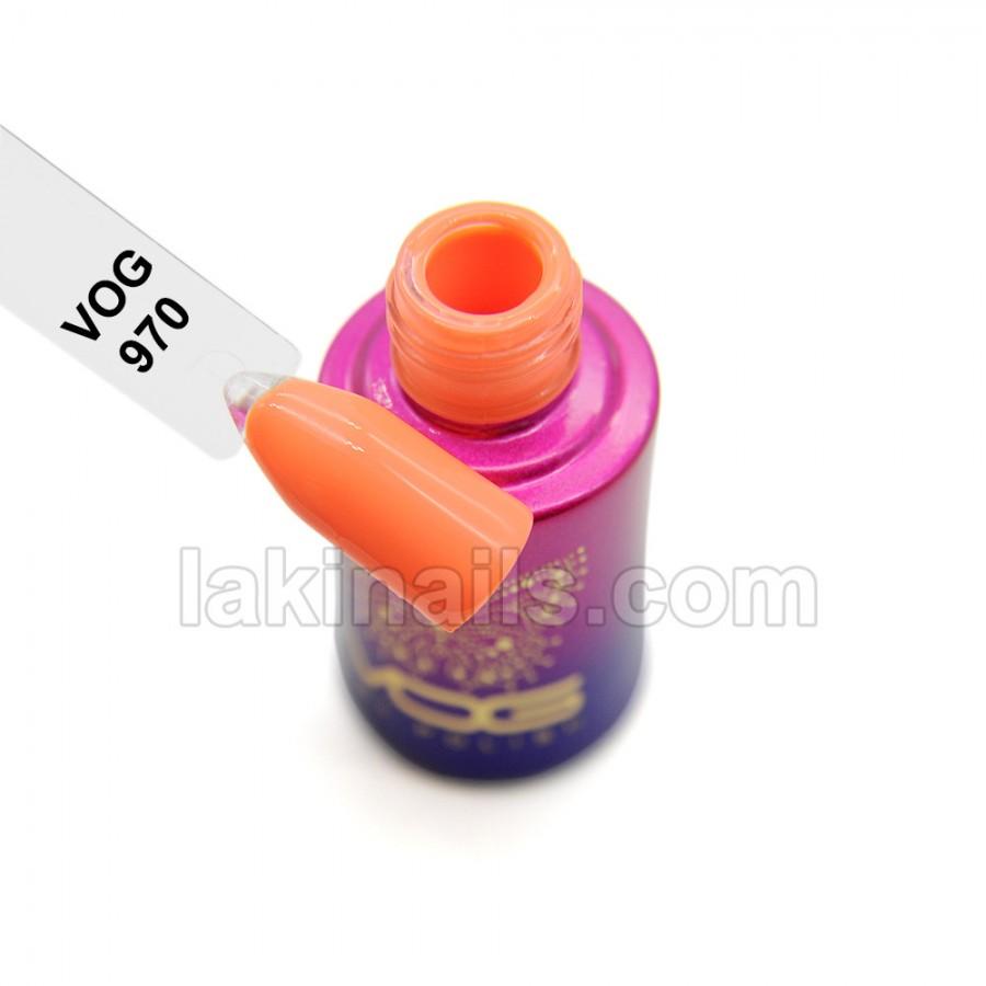 Гель-лак VOG №970, яркий оранжевый