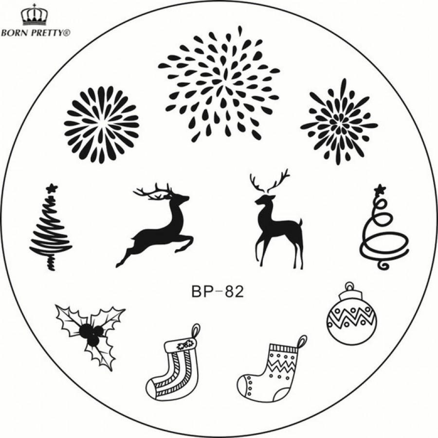Диск для стемпінга BORN PRETTY в фірмовому чохлі, BP-82